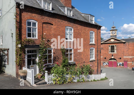 House and town hall, Montgomery, Powys, Wales, UK - Stock Photo