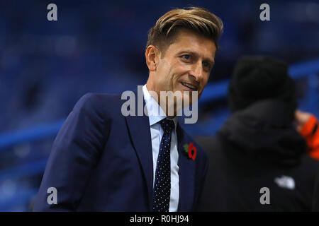 Crystal Palace chairman, Steve Parish - Chelsea v Crystal Palace, Premier League, Stamford Bridge, London - 4th November 2018  STRICTLY EDITORIAL USE ONLY - DataCo rules apply - The use of this image in a commercial context is strictly prohibited unless express permission has been given by the club(s) concerned. Examples of commercial usage include, but are not limited to, use in betting and gaming, marketing and advertising products. No use with unauthorised audio, video, data, fixture lists, club and or league logos or services including those listed as 'live' - Stock Photo