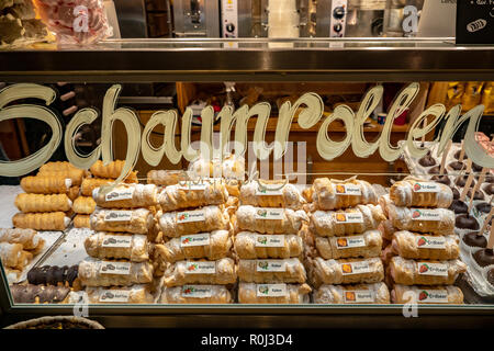 Traditional Austrian sweets sold at Salzburg Christmas Market - Stock Photo