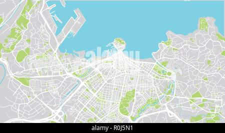 Gijon Spain Map.Urban Vector City Map Of Gijon Spain Stock Vector Art