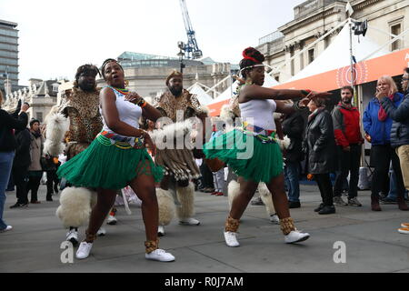 Africa on the Square in Trafalgar Square 27th October 2018, London, UK. - Stock Photo