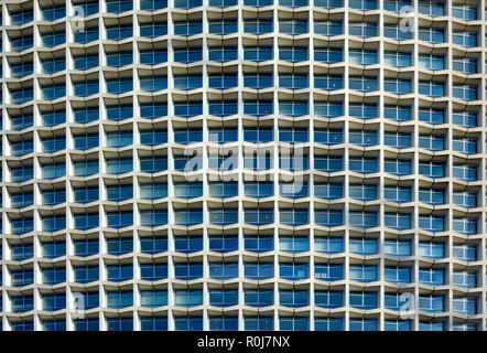 Centre Point high rise building, London, England, UK. 33-storey tower in the Brutalist style, 1966. Detail - Stock Photo
