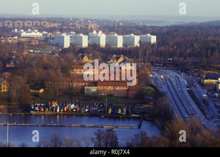 UNIVERSITY OF STOCKHOLM at Frescati from above - Stock Photo
