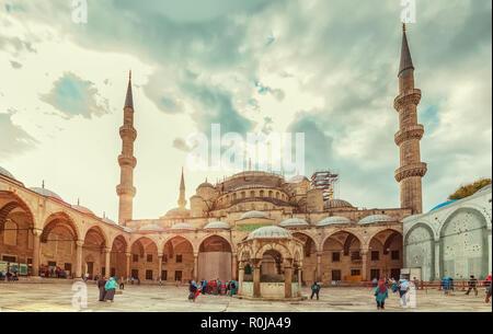 Gorgeous Blue Mosque. Istanbul, Turkey - September 19, 2018.