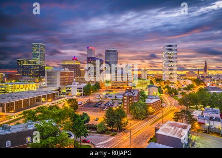 Tulsa, Oklahoma, USA skyline at twilight. - Stock Photo
