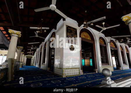 Beautiful architecture of Masjid Kampung Kling mosque in Malacca city in Malaysia. Beautiful sacral building in south east Asia. - Stock Photo
