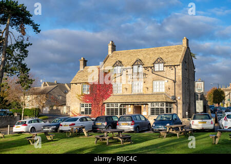 The Bell at Stow Inn at Stow on the Wold, Cotswolds, Gloucestershire, England - Stock Photo