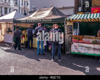 Bute Street Farmers' Market, South Kensington, London - Stock Photo
