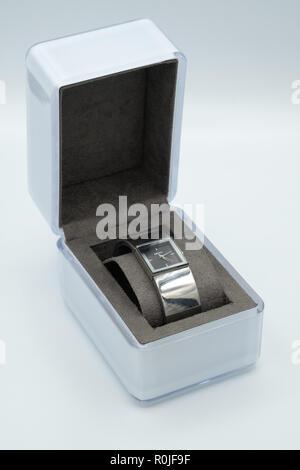 DKNY wristwatch in box - Stock Photo