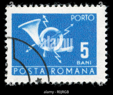 Postage stamp from Romania in the Post and telecommunications II series issued in 1970 - Stock Photo