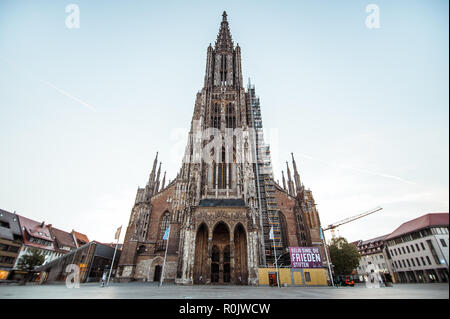 Ulmer Minster in the city center of Ulm, Germany