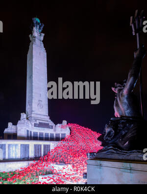 War Memorial , Plymouth - Stock Photo