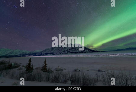 Northern lights, Kluane National Park, Yukon, Canada. - Stock Photo