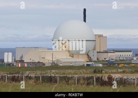 DOUNREAY, FORMER NUCLEAR POWER STATION, CAITHNESS. - Stock Photo
