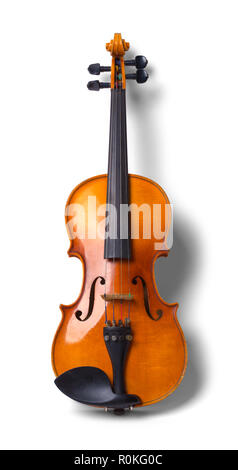 Wood Violin Without Bow Iolated on White Background. - Stock Photo