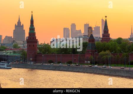 Moscow skyline - Stock Photo