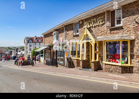 7 July 2018: Bude, Cornwall, UK - Airculture in Belle View. - Stock Photo