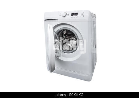 Door Open On Washing Machine And Tumble Dryer Concealed In