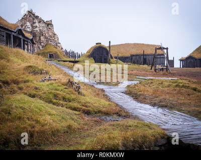 Ancient viking village in Hofn, Iceland - Stock Photo