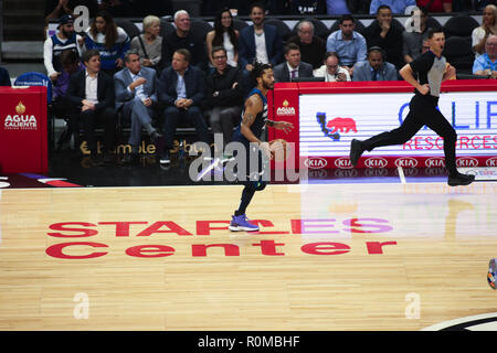 Los Angeles, CA, USA. 5th Nov, 2018. during the Houston Rockets vs Los Angeles Clippers at Staples Center on November 5, 2018. (Photo by Jevone Moore) Credit: csm/Alamy Live News - Stock Photo