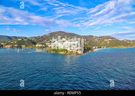 Charlotte Amalie Bay in Saint Thomas Island - Stock Photo