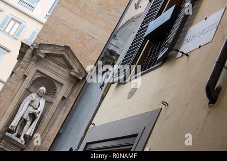Statue on the Loggia del Mercato Nuovo in Florence, Italy Europe - Stock Photo