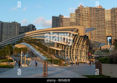 High Speed Rail Station Kowloon Hong Kong - Stock Photo