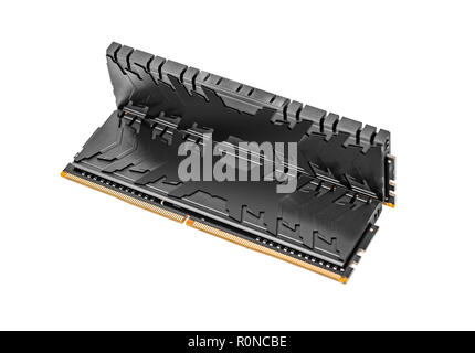 Ram DDR4 memory modules isolated on a white background. - Stock Photo