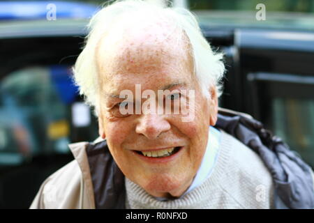 Lord Davies of Stamford pictured in Victoria, London, UK on 6th November 2018 at the start of his trip to Rwanda, East Africa. Photo credit Russell Moore. - Stock Photo