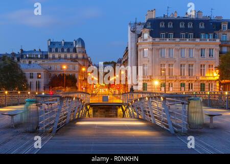 Bridge Passerelle Solferino, Paris, France - Stock Photo