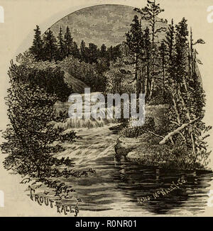 The North and West illustrated for tourist, business and pleasure travel : The popular resorts of California, Nevada, Idaho, Montana, Utah, Wyoming, Colorado, Nebraska, Dakota, Iowa, Illinois, Wisconsin, northern Michigan and Minnesota. A guide to the lakes and rivers, to the plains and mountains, to the resorts of birds, game animals and fishes; and hints for the commercial traveler, the theatre manager, the land hunter and the emigrant - Stock Photo