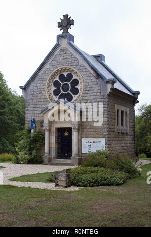 'Our Lady of Europe' church built on the site of the 'lost village' at Fleury Devant Douaumont, destroyed during the Battle of Verdun, France. - Stock Photo