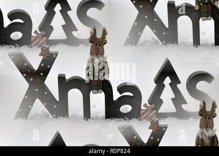 Weihnachten Schnee Schneemann Advent - Stock Photo