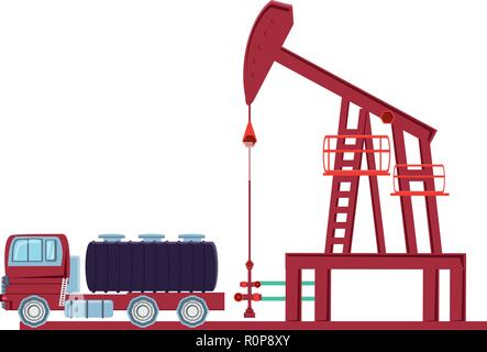 oil excavation drill industry isolated icon vector illustration design - Stock Photo