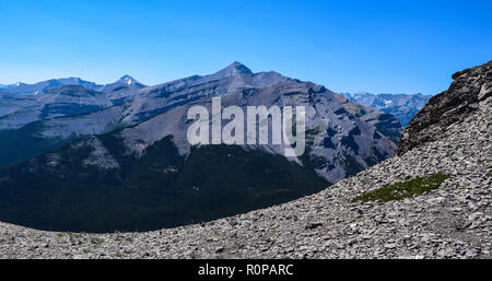 scenery from the trails in the Rocky mountains of Alberta Canada - Stock Photo