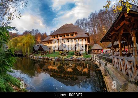 Trout farm Mara, in Sighetu Marmatiei, Maramures region - Romania - Stock Photo