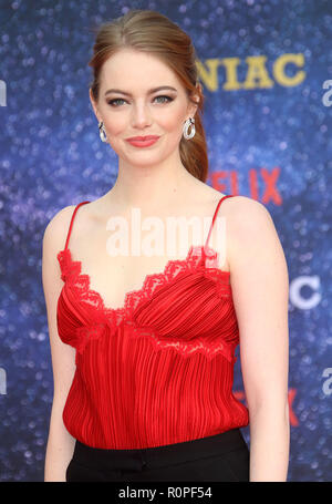 Sep 13, 2018  - Emma Stone attending The World Premiere Of 'Maniac', Southbank Centre in London, UK - Stock Photo