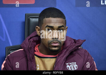 Milan, Italy. 6th Nov 2018. Malcom of Barcelona during the UEFA Champions League Group Stage match between Inter Milan and Barcelona at Stadio San Siro, Milan, Italy on 6 November 2018. Photo by Giuseppe Maffia. Credit: UK Sports Pics Ltd/Alamy Live News - Stock Photo