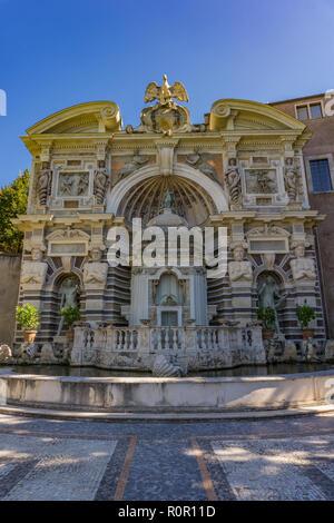 View at Fountain of the Organ at Villa d'Este in Tivoli, Italy - Stock Photo