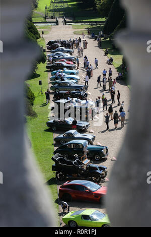 Hampton Court, London. 1st September 2018. Some of the world's rarest cars on display in the gardens of Hampton Court Palace. - Stock Photo