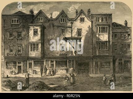 'Oldbourne Hall, Shoe Lane, 1823', (1897). Creator: Unknown. - Stock Photo