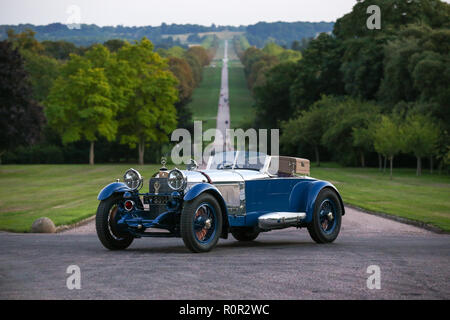 1929 Mercedes-Benz S-Type Barker 'Boat Tail at Concours of Elegance Dinner, Windsor Castle, UK. - Stock Photo