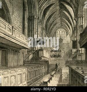 'Interior of St. Saviour's Church', (c1878). Creator: Unknown. - Stock Photo
