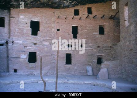 Cliff Palace, multistory Anasazi/Puebloan city at Mesa Verde National Park, CO. Photograph - Stock Photo