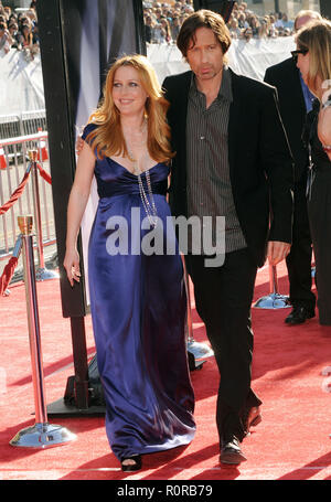 David Duchovny  and Gillian Anderson -  The X Files I Want To Believe Premiere at the Chinese Theatre In Los Angeles.  full length eye contact         - Stock Photo