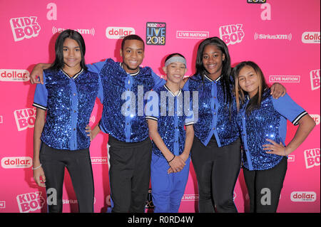 NEW YORK, NY - NOVEMBER 04: Opening performers from the Garden of Dreams Foundation attend KIDZ BOP Live at Beacon Theatre on November 4, 2018 in New  - Stock Photo