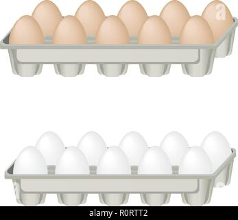 Egg. Vector illustration on the theme of food. - Stock Photo