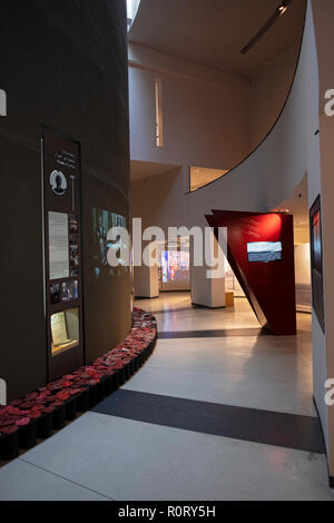 The interior of the Yitzhak Rabin Center, a museum and library in Tel aviv, Israel. - Stock Photo