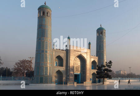 Architecture Of The Shrine Of Hazrat Ali, also called the Blue Mosque, Mazar-e Sharif, Afghanistan - Stock Photo
