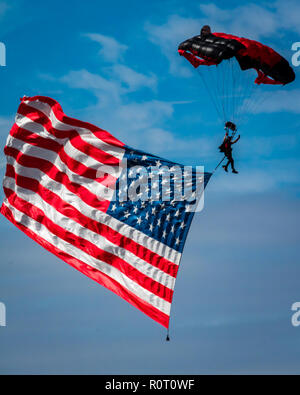 The presentation of the American Flag - Stock Photo
